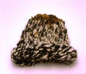 Nature Child Beanie Hat Black, Cream, Tan