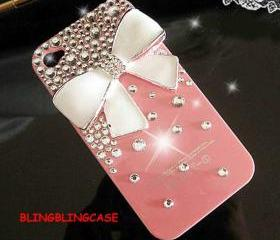 iphone case, iphone 5 case, iphone 5G case, iPhone 5 bow Case, bling iPhone 5 case, Pink iPhone 5 Case, Crystal iphone 5G cover