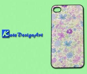 iphone case, iphone 4s case, iphone 4 case - colorful beautiful flowers