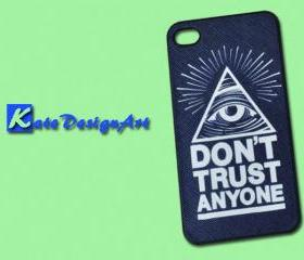 iphone case, iphone 4 case, iphone 4s case - don't trust anyone iphone 4s case/iphone 4 case