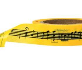 Music Notes on Yellow Washi Tape