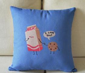 Biscuit Love Print Decorative Pillow