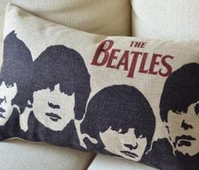 Forever Beatles Print Decorative Pillow