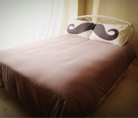 Mr. Moustache Cute Couple Pillows
