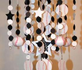 Sports Baseball Crib Mobile, Nursery Decor, Baby Shower Gift, 
