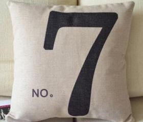 Lucky 7 Decorative Pillow