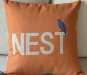 Nest Print Decorative Pillow