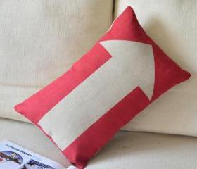 Arrow Print Decorative Pillow