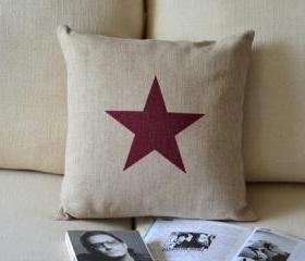 Star Print Decorative Pillow