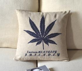 Maple Leaf Print Decorative Pillow
