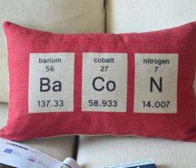 Chemical Element Print Decorative Pillow