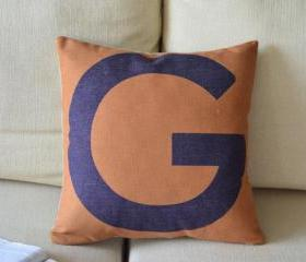 Alphabet Print Decorative Pillow(G)