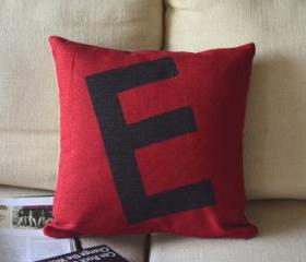 Alphabet Print Decorative Pillow(E)