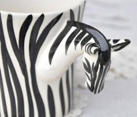 Fashion Handpainted Zebra Ceramic Cup