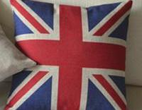 UK Flag Print Decorative Pillow