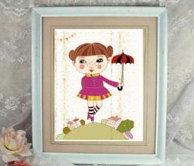 sweet a4 high quality print 'cute dancer'
