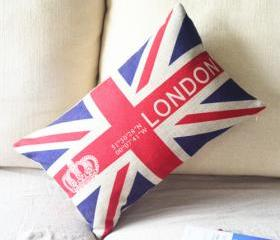 Union Jack Print Decorative Pillow