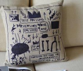 Basquiat Print Decorative Pillow