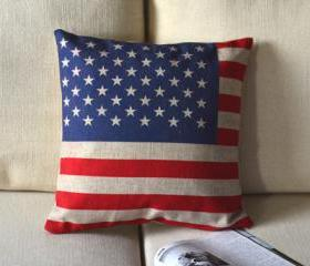 The Stars and Stripes Print Decorative Pillow