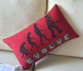 Evolution Print Decorative Pillow