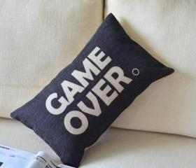 Game Over Print Decorative Pillow