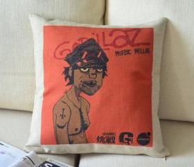 Gorillaz Print Decorative Pillow