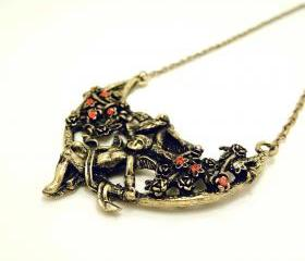 Cupid & Birds Collar Necklace