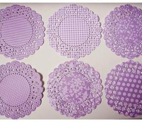 Parisian Lace Doily Winter Wisteria for Scrap booking or card making / pack 