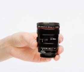 The Shot camera Lens cup---two mini ceramic lenses that give 'taking shots' a whole new meaning.