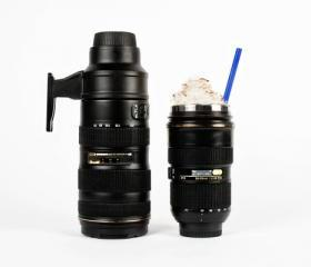 Creative Camera Lens cup (Stainless Steel )----A Thermos Lens and a Zoom Mug for your imbibing pleasure.