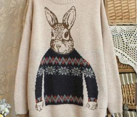 Peter Rabbit Beige Pullovers Sweater