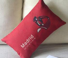 Madrid Print Decorative Pillow