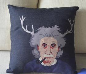 Einstein Print Decorative Pillow