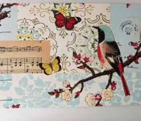 Wedding Guest Book or Wedding Album - Beautiful Birds and Butterflies - Coptic Stitch Binding - Made to Order