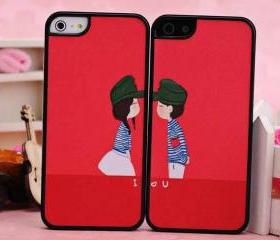 Valentines Day gift cute lover design cover hard back case for iphone 5