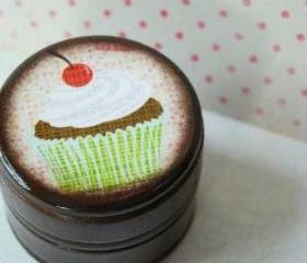 Happy Birthday - Cupcake Powder Box