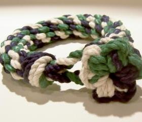 Blue Green and White Knot Bracelet