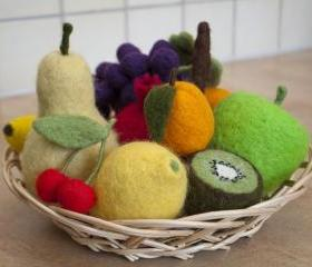 Needle Felted Fruits, made to order
