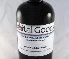 Dreadlock shampoo rosemary & lavender Shea Butter Black Soap Shampoo 12oz