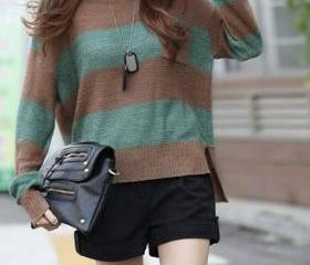 Stripe Cotton-Knit Sweater