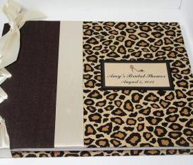 Cheetah Bridal Shower Guestbook or Album