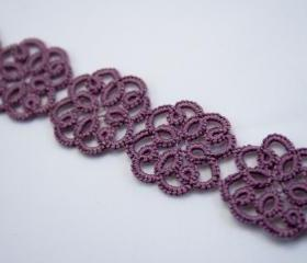 Summer Blooms - Purple Lace Bracelet