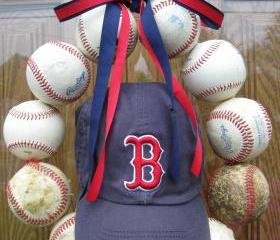 Baseball Love Wreath - With Hat