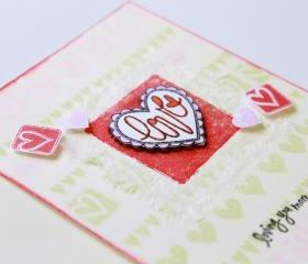 Love Scallop Heart Handmade Greeting Card (Blank Inside) by The Leaf Studio. FREE shipping.