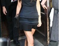 Victoria Beckham style,Black Pleated Sleeveless Mini Dress without a belt