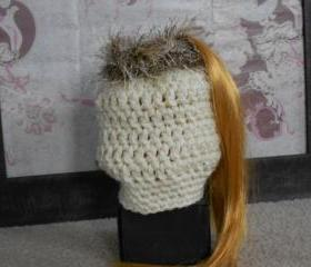 Pony tail hat