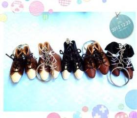 little boots Mini Leather Boots Keychain