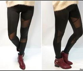Black Mesh Leggings ON SALE