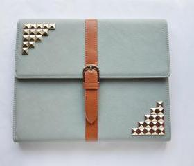 iPad 2/3/4 Case, iPad 2/3/4 Cover ,iPad 2/3/4 case with silver stud,studded 2/3/4 ipad case,case for ipad 2/3/4