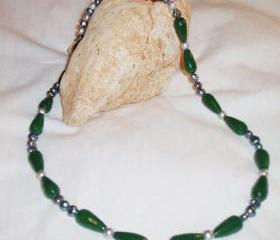 Pearl and Jade Necklace handmade Jewelry